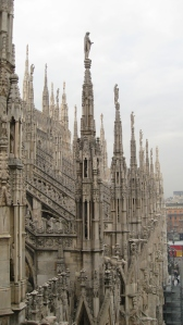 Milan cathedral terrace 2