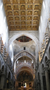 Inside the Pisa cathedral