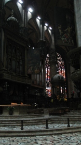Inside Milan cathedral