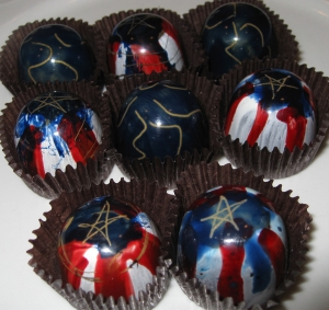 Hand decorated truffles 2