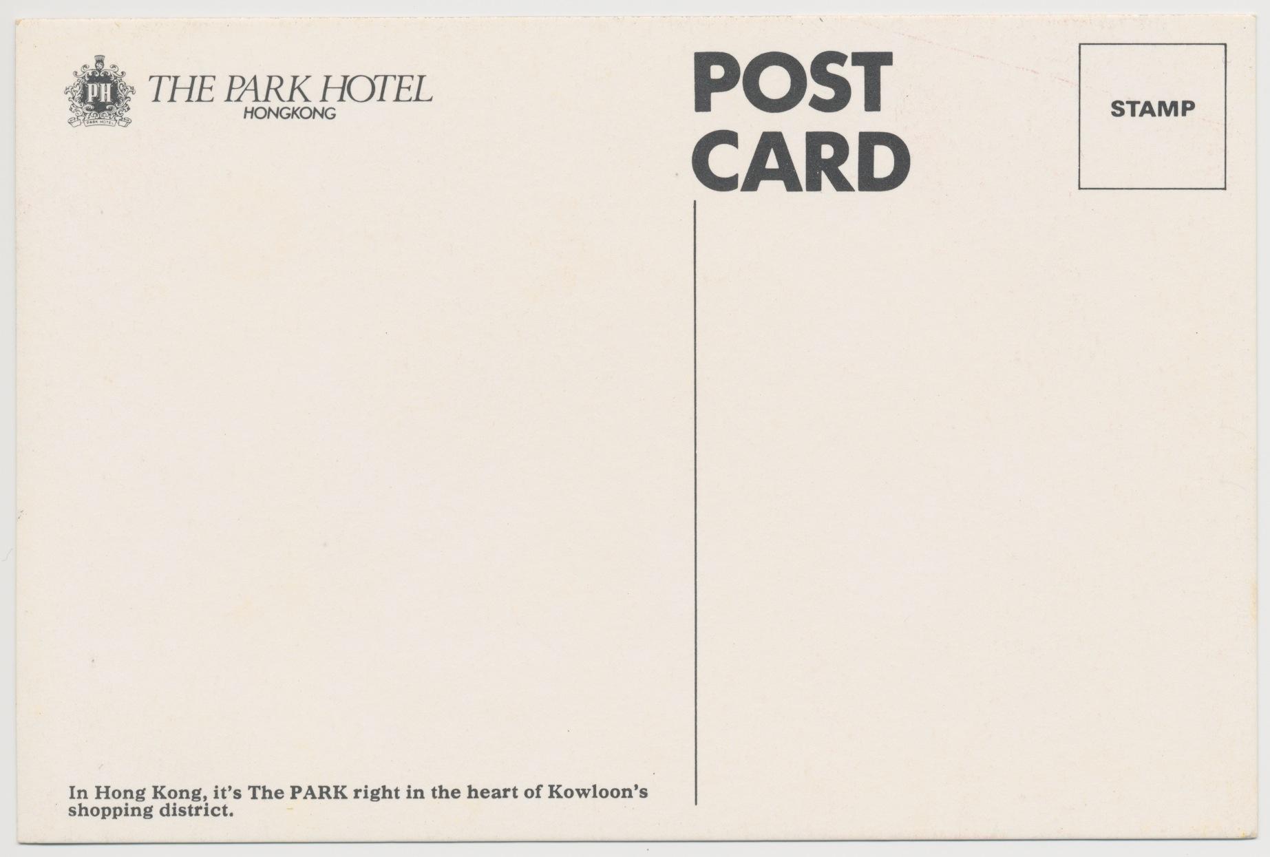 park hotel hong kong 1976 postcard | Aussie Emjay's Blog