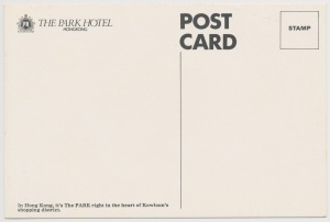 The Park Hotel postcard back