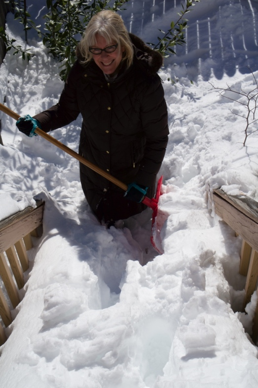clearing the steps